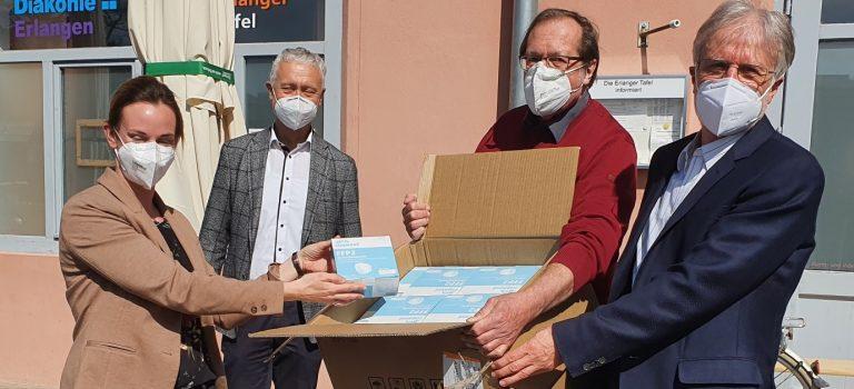 1000 (!) FFP2-Masken für den Kinderschutzbund Erlangen